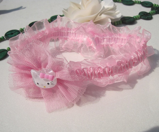 Free Shipping Cute pink Hello Kitty Baby Headbands Girl s Lace Hair Band  Baby Girls Hair Bows Baby Hair Accessories 10pcs lot-in Hair Accessories  from ... cbf3c7934d2
