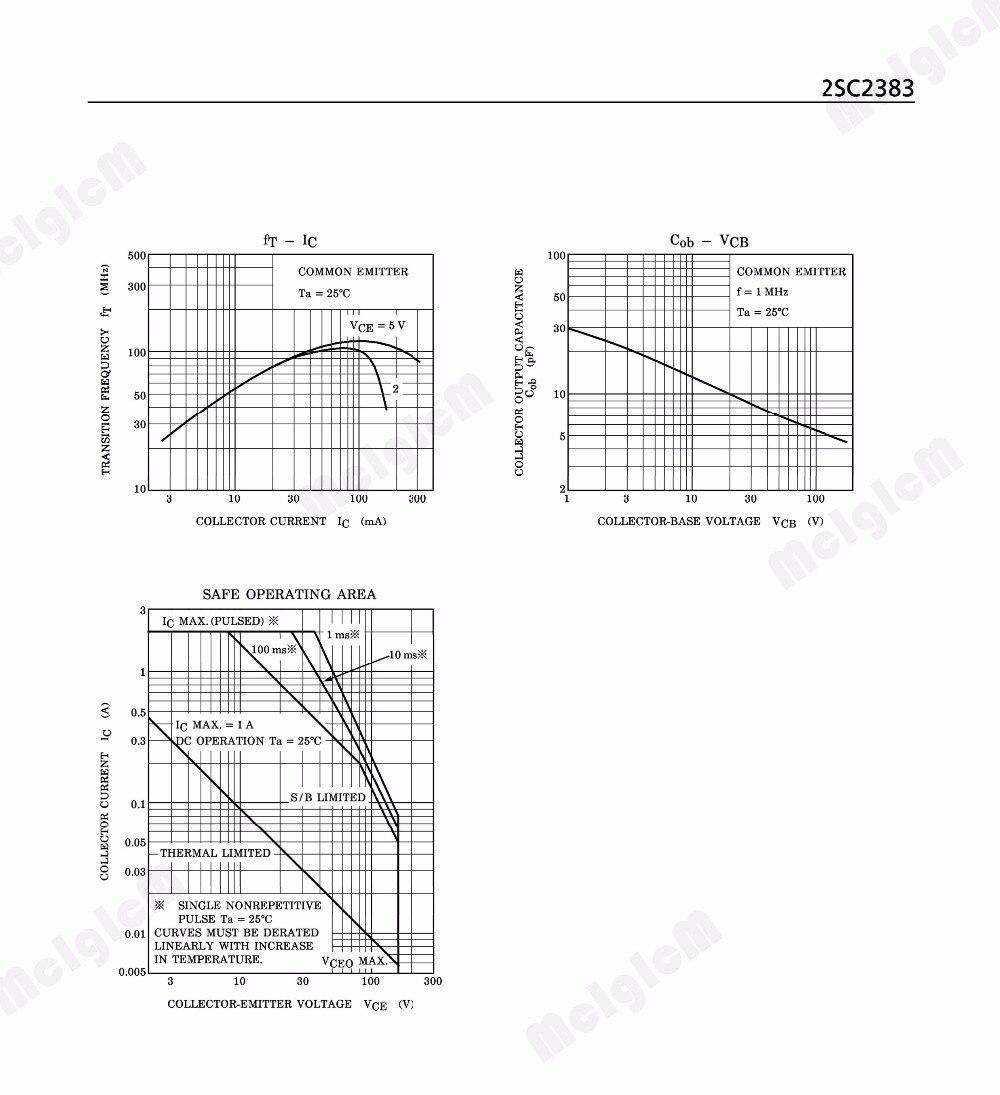 Mcigicm 50pcs C2383 Y 2sc2383 C2383 2sc2383 50pcs In Line Triode