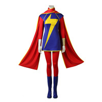 Custom Made Ms. Marvel Cosplay Costume Kamala Khan Role play Outfit Heroine Suit Halloween Costume For Adult Women Customized