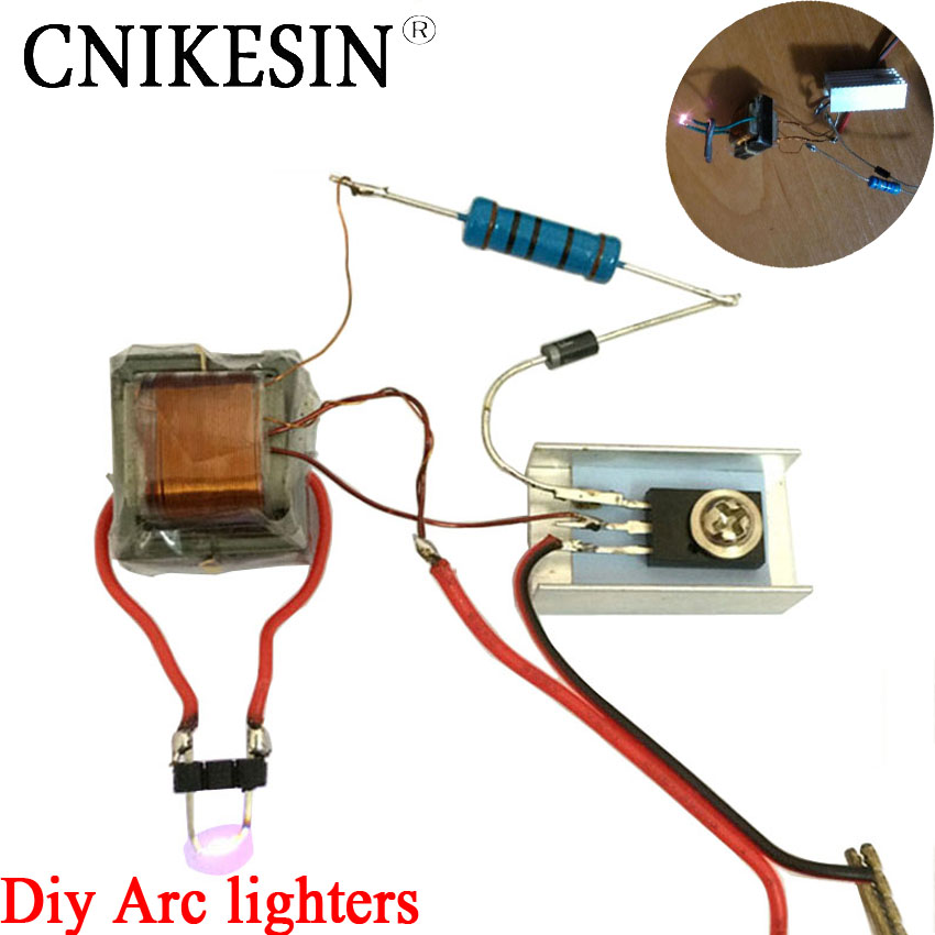 Cnikesin Diy Inverter Booster High Voltage Generator Arc