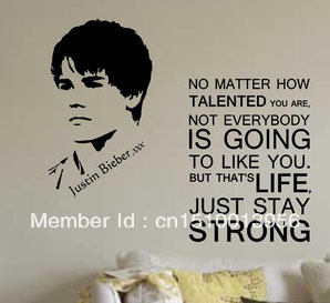 Attractive JUSTIN BIEBER WALL STICKER Wall Art NO MATTER HOW TALENTED YOU ARE S40 Part 18