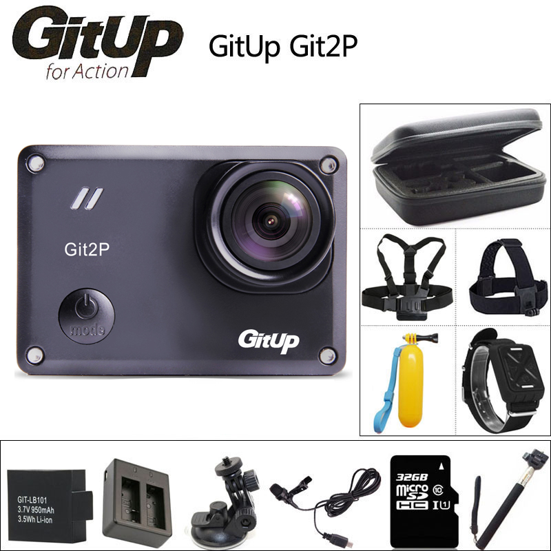 GitUP Git2P Cámara de Acción 2 K Wifi Full HD 1080 P 30 m impermeable 170 grado lente mini videocámara Novatek 96660 Git2 P deportes DV Cam