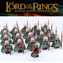 Lord Of The Rings Corps Los Khan Medieval Castle Knights Army Action Figures Building Blocks Brick Children LegoING Toys