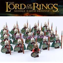 Władca pierścieni Corps Los Khan średniowieczny zamek rycerze armia figurki klocki cegły dzieci LegoING zabawki