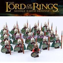 Yüzükler Kolordu Los Han Ortaçağ Kale Knights Ordu Eylem Rakamlar Yapı Taşları Tuğla Çocuk LegoING Oyuncaklar