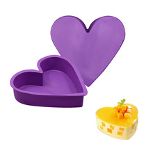 Silicone Baking Pastry Molds Big Heart Shape Cake Mold Mousse Bread Mould Bakeware DIY Non-Stick Cake Bakeware Pan цена