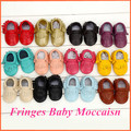 1 Pair Send Fashion Cow Leather Baby Moccasins Soft Soled Leather Baby Shoes Boys Girls Newborn Infant Crib Shoes First Walkers