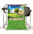 Фон для студийной фотосъемки реквизит весенний пастбищный дом река виниловые Фото фоны для фотостудии для свадьбы детей