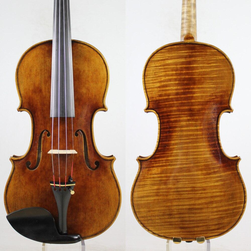 60-y Abeto velho! incrível 1 Pc de Volta! antonio Stradivari Violino 4/4 violino Cópia Do Solo, Todos Os Europeus Madeira, Frete Grátis!