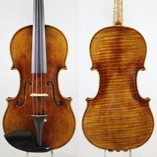 60-y old Spruce!Amazing 1 Pc Back!Antonio Stradivari Soil Violin 4/4 violino Copy, All European Wood,Free Shipping!