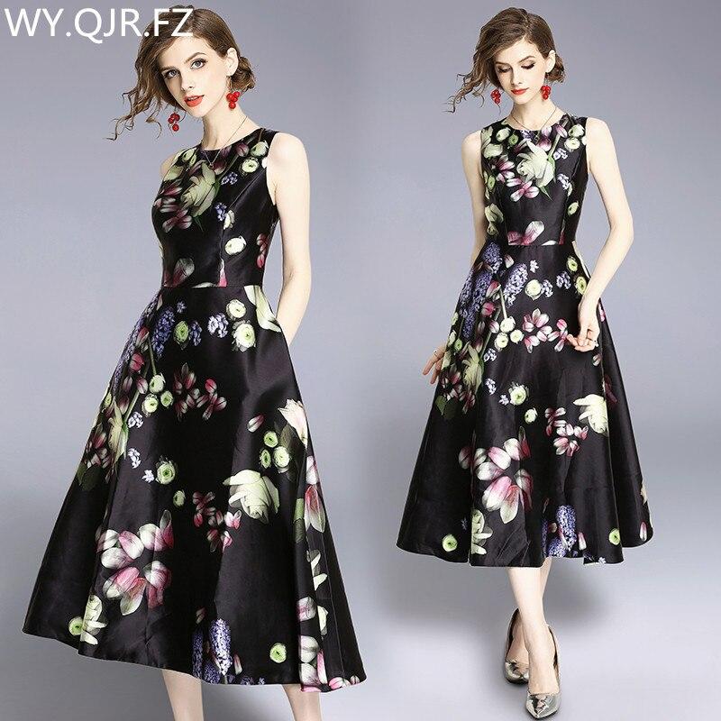 HLXD187 Printing black Medium style Bridal gown Evening Dresses party prom dress 2019 Ladies fashion cheap