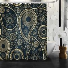Bathroom Curtains Paisley Shower Curtain Custom Waterproof Polyester Fabric For BathroomChina
