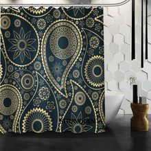 Bathroom Curtains Paisley Shower Curtain Custom Waterproof Polyester Fabric For BathroomChina