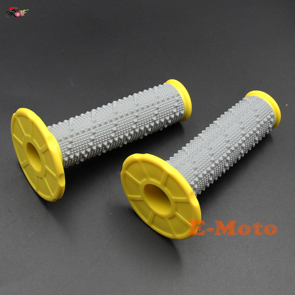 YELLOW HandleBar Grips Rubber Pillow Top Gel Grips For KTM EXC EXCF SX SXF SXS MXC MX Pit Dirt Bike Motocross Motorcycle E-Moto
