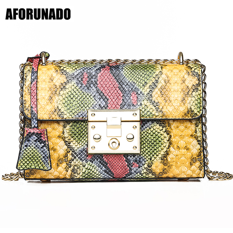 New Luxury Handbags Women Bag Designer Serpentine Chain Shoulder Bags Leather Evening Crossbody Bags For Women 2019 Sac a Main