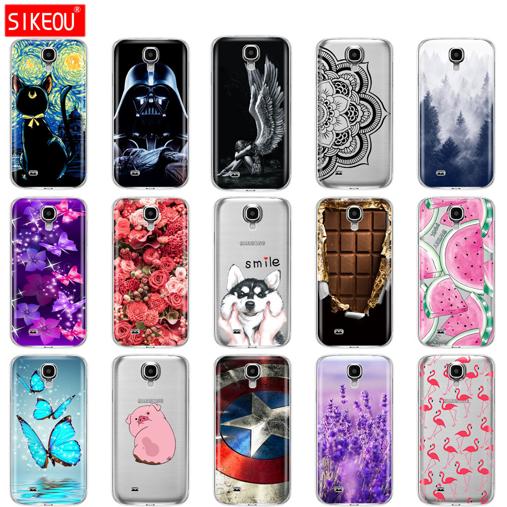 SIKEOU Silicone Case For Samsung Galaxy S4 i9500 Case Soft TPU Cover For Samsung S4 Phone shell Funda Hoesje Protective For S 4 image
