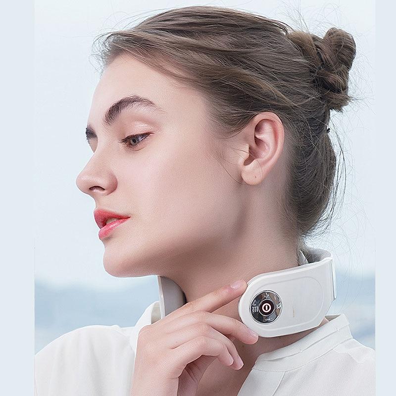 Electric Neck Massager Home Office Car Multi-Function Smart Remote Portable Control Cervical Neck Guard