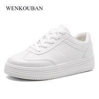 Fashion White Shoes Women Platform Sneakers Causal Shoes Trainers Summer Basket Femme Ladies Flat Tenis Feminino