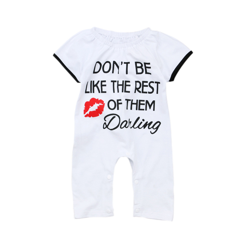 VTOM Summer Baby Rompers Toddler Girls Clothes Newborn Short Sleeve Infant Jumpsuits