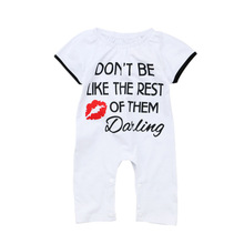 VTOM Summer Baby Rompers Toddler Girls Clothes Newborn Baby Short Sleeve Rompers Infant Baby Jumpsuits Clothes summer newborn baby boys girls clothes superman batman spiderman rompers cotton short sleeve vest suit 0 24m kids jumpsuits