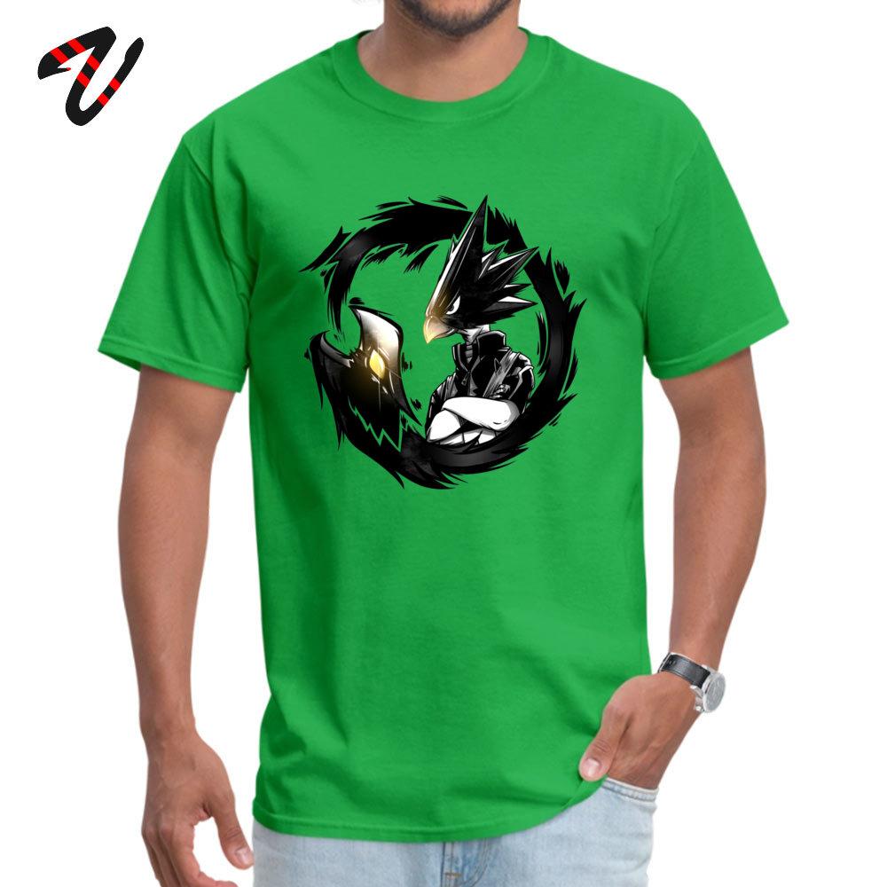 GiftPrinted On Short Sleeve Tops & Tees April FOOL DAY 2018 O Neck 100% Cotton Fabric Tee Shirt Young T-Shirt Funny  Dark Shadow - My Hero Academia! -16983 green