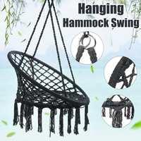 SGODDE Swing Chair Rope Hammock Hanging Seat Home Garden Indoor Outdoor Trapeze 120KG Hammocks Indoor Chair