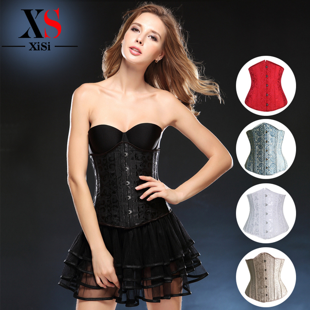 women intimates Shapewear plus size 24 steel boned underbust corset Sexy body shaper cincher waist Trainer Corset and bustiers