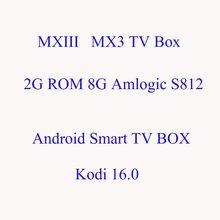 MXIII Amlogic S812 Android 4.4 MXIII MX3 2 Г/8 Г 2.4 Г/5 ГГц Dual WiFi Media игрок 16.0 Компл. Top Box