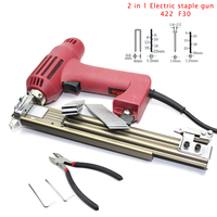 F10 F30 410J 422J 2 In 1 Woodworking Tacker Electric Nails Staple Gun With 600pcs Nails