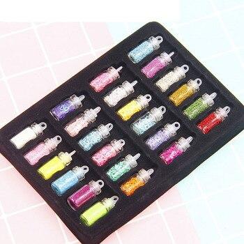 48 Pcs Lantejoulas / Glitter Filler Lodo Fofo Brinquedos Para Crianças Encantos Lizun Modelagem Argila DIY Kit Acessórios Suprimentos Presente Engraçado 1