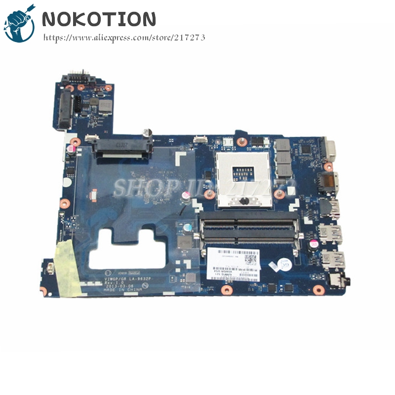 NOKOTION Main Board For Lenovo Ideapad G500 Laptop Motherboard VIWGP/GR LA-9632P HM76 gma hd DDR3 nokotion notebook pc motherboard for lenovo ideapad g500 main board system board viwgpgr la 9632p hm76 ddr3