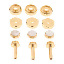 1 Set Golden Metal Connecting Rods Piston Buttons Caps for Trumpet Replacement Parts Accessories