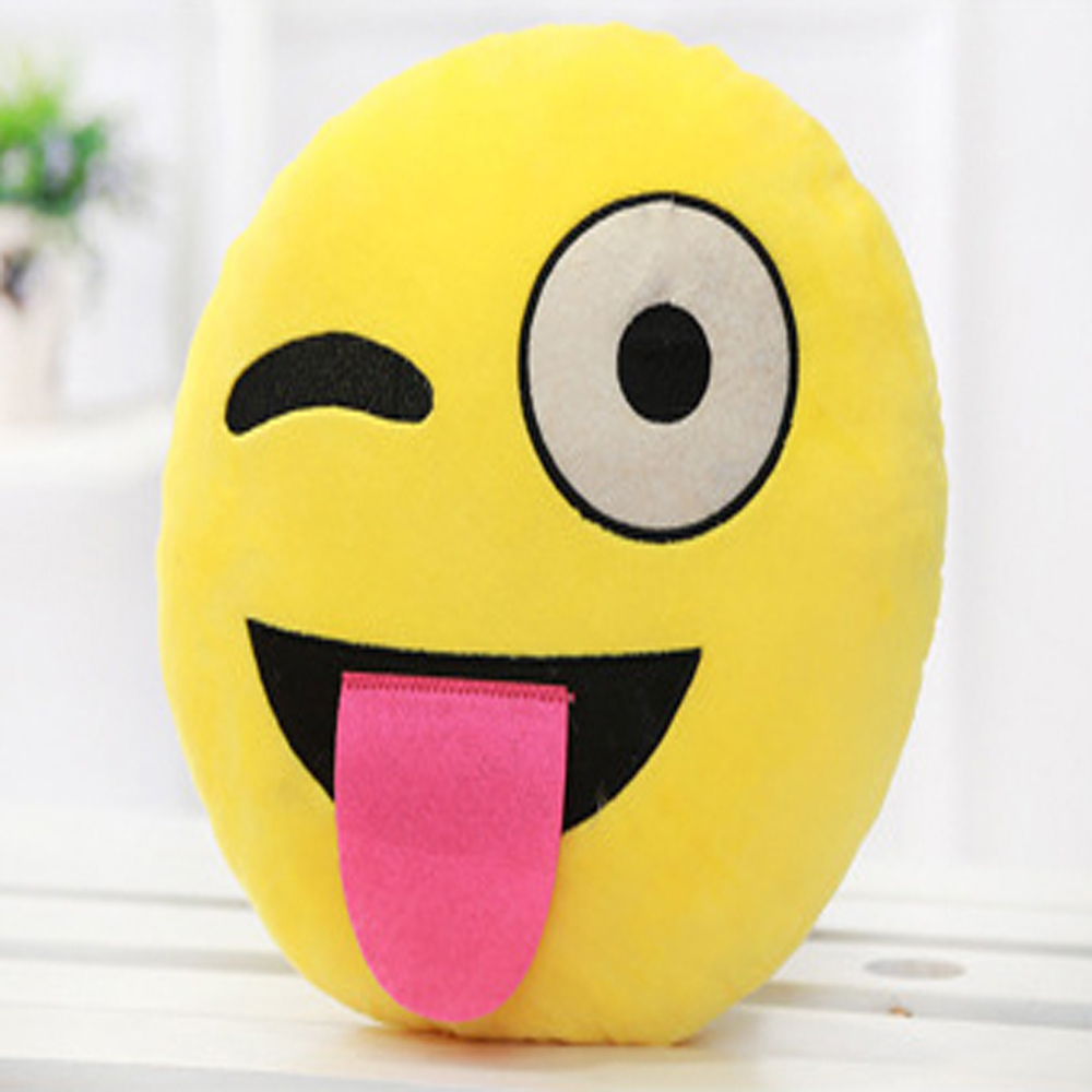 Cute Smiley Emoji Pillow Plus Pillows and Cushions Stuffed Cushion Home Decor For Sofa Couch Chair Toy Emotiona Smile Face Doll