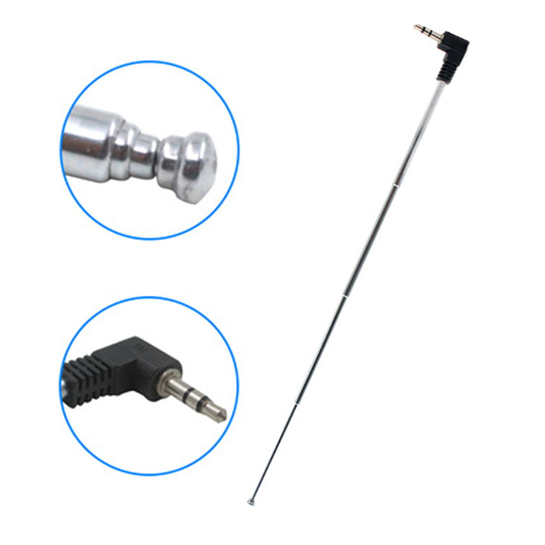 New Arrival 3.5mm FM Radio Antenna Retractable Aerial For Auto Car Mobile Phone NOYOKERE