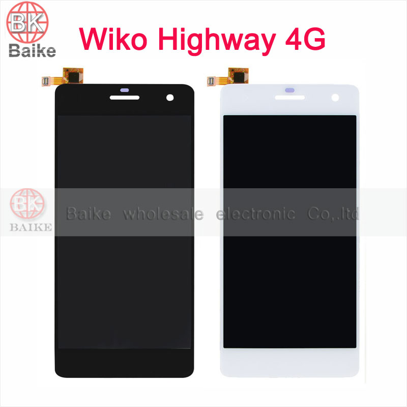 5 Inch for Wiko Highway 4G LCD Display Touch Screen Digitizer Assembly 100% Guarantee