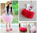 Retail !New 2015 beautiful Girl summer Dresses kids hello kitty cartoon Princess Dresses Children tutu dress free shipping