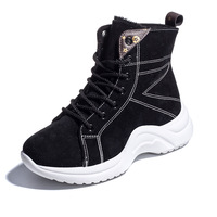 Women Snow Boots Winter Shoes Warm Plush Ankle Boots 2018 Fashion Female Casual Shoes Wedge Snow Sexy Boots Woman Shoes Size 43