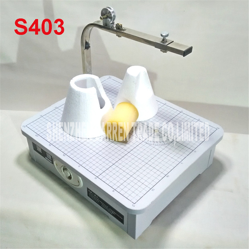 S403 High Quality 220 V Hot wire foam cutter foam cutting machine tool table desktop foam cutting machine best price mgehr1212 2 slot cutter external grooving tool holder turning tool no insert hot sale brand new