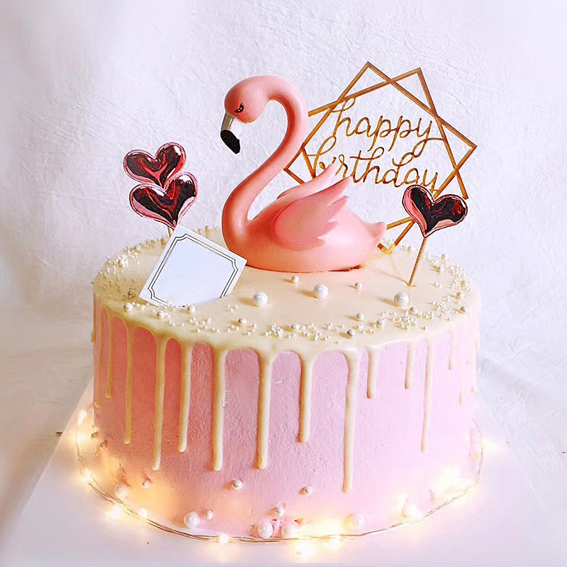 Flamingo Cake Topper Wedding Figurine Engagement ...