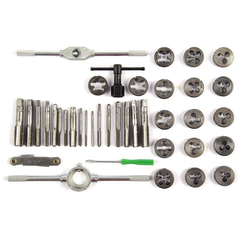 40pcs tap die set M3 M12 Screw Thread Metric Taps wrench Dies DIY kit wrench