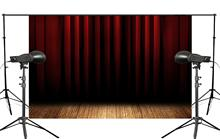 Stratified Black Red Stage Curtain Backdrop Photo Studio Backgrounds 5x7ft Booth Shoot Props