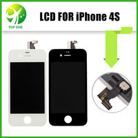 50pcs LCD Display Touch Screen With Digitizer Replacement Parts For IPhone 4S GSM CDMA Free DHL