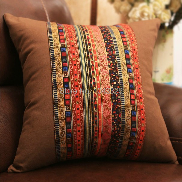 BOHO Series #01 Classic Pattern cotton cushion cover Linen Pillow cushion Home Decor sofa cushions 1PCS Pillows 45*45cm