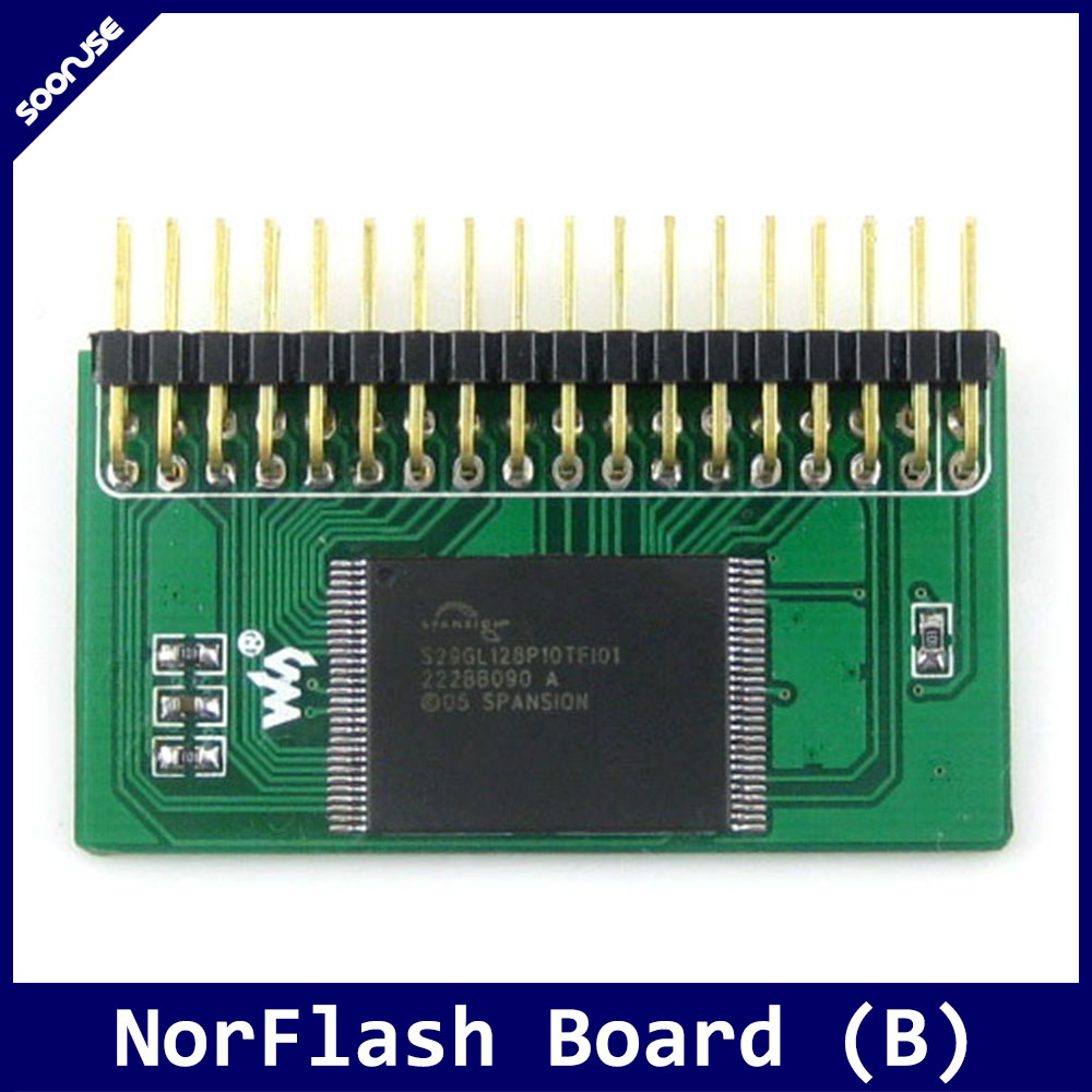 Waveshare NorFlash Board (B) 128M Bit NorFlash S29GL128P Nor Flash Memory Module 32 I/O