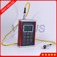 Magnetic Method Zinc Chromium Copper Rubber Paint Coating Thickness Gauge Tester with F1 type probe Cpad T200