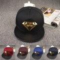 Moda snapback ajustable gorra de béisbol gorra de hip hop marca sombrero de Mujer Sombrero Para Hombre Gorras de Béisbol Deporte de oro diamante sombreros