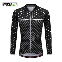 Outdoor Sport Windproof Long Sleeve Cycling Jersey MTB Ropa Maillot Ciclismo Hombre Motocross Sportswear