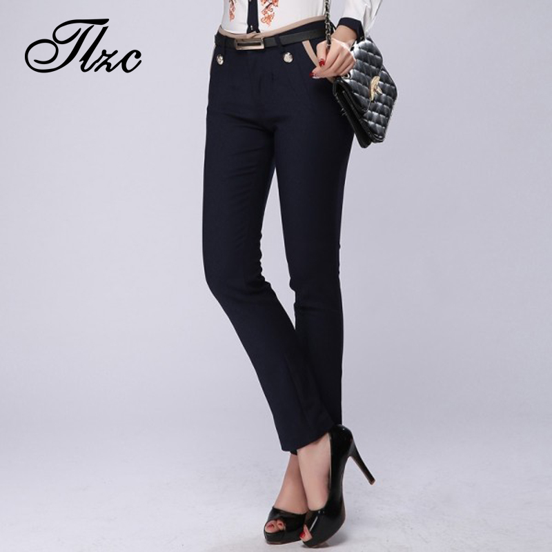 Hot Sale New Style Women Solid Pants Size S-2XL Lady Casual Trousers Zipper Fly Closure Mid-Waist All-Match Fashion Clothing