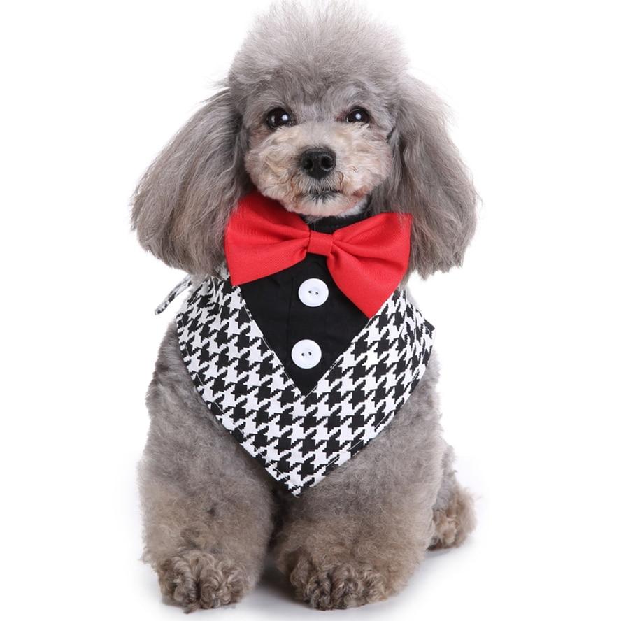 GLORIOUS KEK Dog Taksedo yaxası Toy Formal It Bandana Bow Bie & - Ev heyvanları və zoo məhsullar - Fotoqrafiya 3