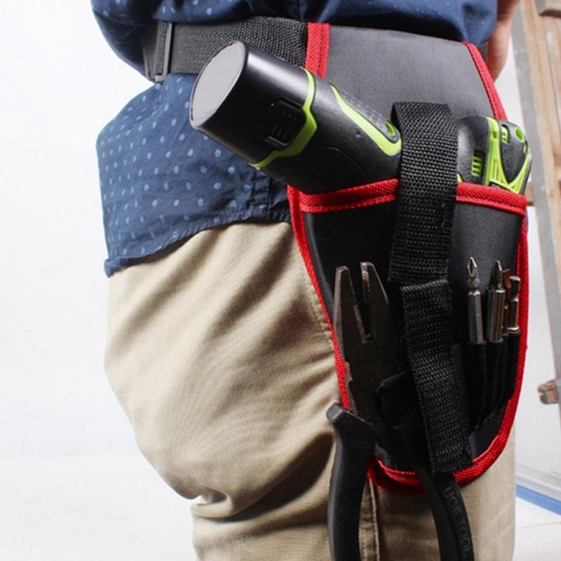 Portable Cordless Drill Holder Drill Cordless Screwdriver Waist Power Tool Bag Drill Waist Tool Belt Bag
